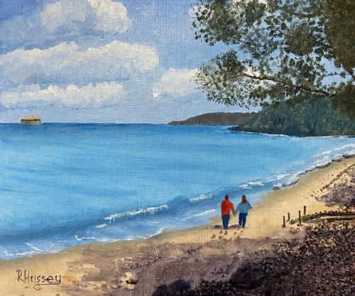 A Walk Along the Beach, Priory Bay  by Bob Hussey