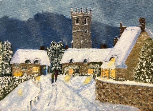 Godshill in the               Snow              by Bob Hussey
