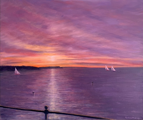 November Sunset, Gurnard