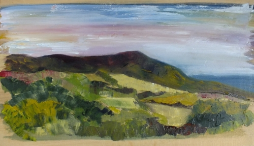 'Yorkshire Coast'       Winner of the 2020 SPWMO 'Landscape Painting' competition professional category