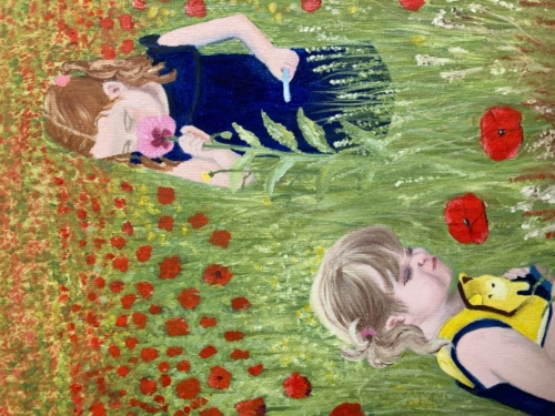 Skyla and Fearne Among the Poppies