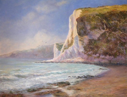 Sunlit Cliffs, Whitecliff Bay