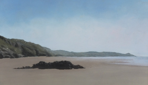 Whitsand bay to Rame Head 10 x 8 oil on paper
