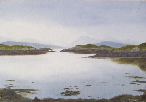 Towards Mull from Seil Island