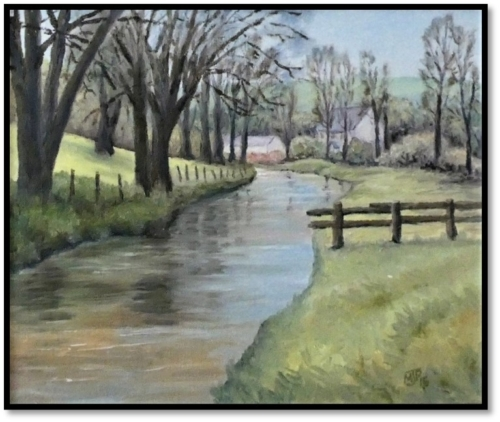 Cotswolds Stream in Spring 2015