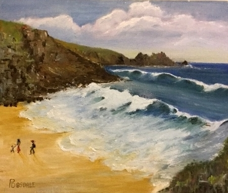 Porthcurnow Beach by Pat Dibsdale