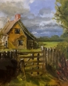 Suffolk Cottage after Constable by Pat Dibsdale