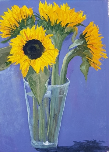 'Sunflowers'  Winner of the 2020 SPWMO 'Still Life' Painting amateur category