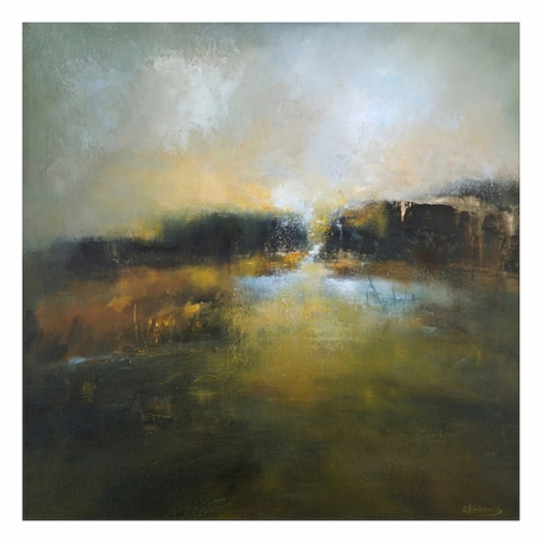 At the Edge of Gold - 77x76cms